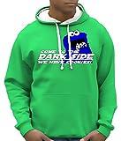 COOKIE MONSTER - come to the dark side - BICO Hoodie Sweatshirt mit Kapuze green-weiss Gr.XL