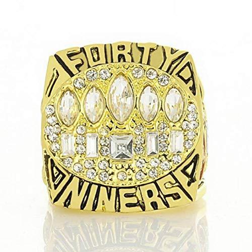Collection Champion Ringe Fans Männer Memorial Ringe High-End-Kollektionen Fans Legierung Ringe Herren Accessoires Vintage-Zubehör, Gold, 11 ()
