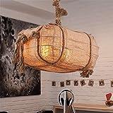XYDM Pendelleuchte Retro Dachgeschoss Hanfseil Deckenlampe Esszimmer Bar Cafe AC110-240V E27