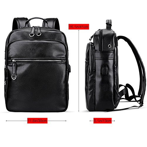 LIELANG Uomo Zaino per laptop Borsa per PC portatile Backpack per Notebook con USB Porta