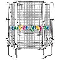 Super Jumper Combo trampolín de 140cm de diámetro | trampolín de jardín | Outdoor trampolín, Certificado GS y TÜV Rheinland | Red de Seguridad con Anillo de Estabilidad (Carga máxima 100kg