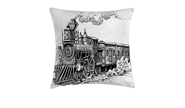 XuLuo Steam Engine Throw Pillow Cushion