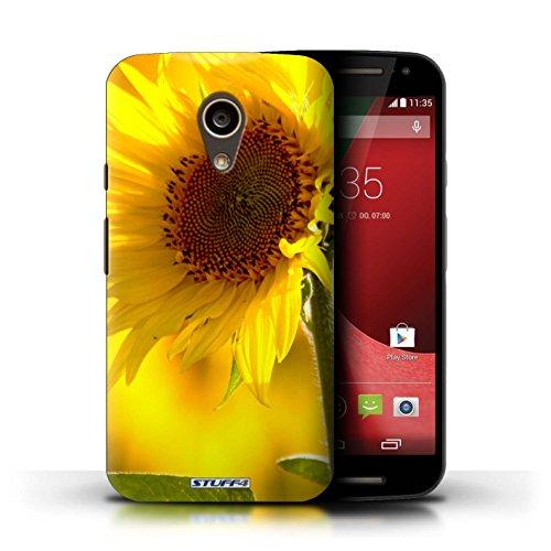 Kobalt® Imprimé Etui / Coque pour Motorola Moto G (2014) / Portulaca conception / Série floral Fleurs Fleur jaune