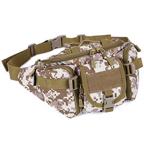 MAGCOMSEN Leichtgewichts Taktisch Angriff MOLLE Ausrüstung Bauchtasche Schlinge Schulter Pack Tasche Wüste