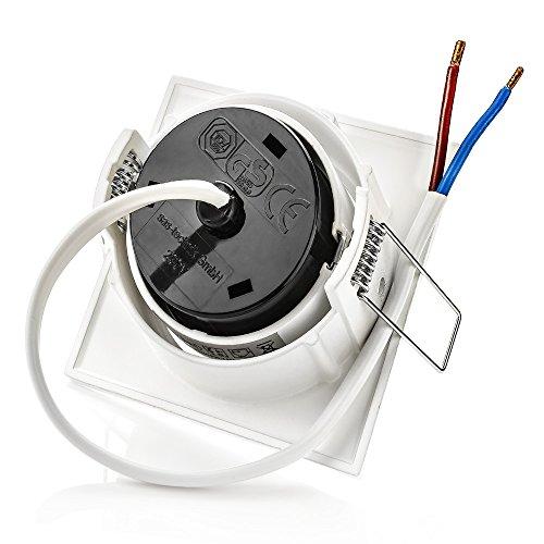 Sweet led® 4 Spot LED encastrable Plat- 5 W - 230 V - Chrome brossé Blanc - Rond - Rectangulaire - Spot lumineux encastrable pivotant , Eckig Weiß Rahmen -Warmweiß 5.0watts 230.00volts