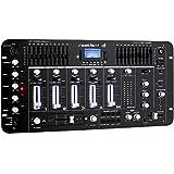 resident dj Kemistry 3BK • DJ Mixer • mixer-4 canali • Bluetooth • porta USB • capacitá MP3 • 10 bande equalizzatore • sezione microfono • XLR-ingressi jack • funzione talkover • montaggio rack • nero