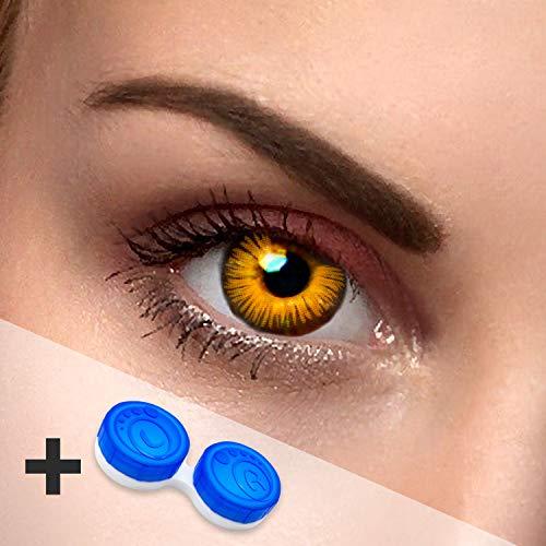 Eye Effect farbige Kontaktlinsen in vielen Farben für schöne natürlich Augen + gratis Kontaktlinsenbehälter (Twilight)