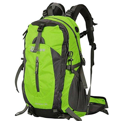 Outdoor-Klettern Tasche Männer und Frauen reisen Rucksack Camping mit regen Abdeckung 40L 50L Grün