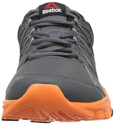 Reebok Yourflex Train 8.0, Scarpe da Corsa Uomo Schwarz (ash GREY/COAL/Electric Peach/Black)