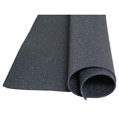 Acerto - Bodenschutzmatte aus Gummigranulat, 1x 1m, Dicke: 5mm, geeignet für jede Art von Boden und Anwendung