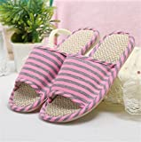 FLIP FLOP 2 Pairs Hotel Slippers Spring and summer cotton linen shoes men