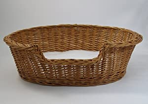 Luxury Wicker Dog Basket - Large (85cm) - With Fitted Pnh Veterinary Bedding ® by Gadsbys