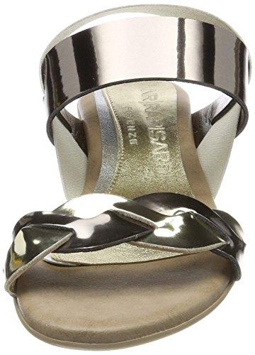 NR RAPISARDI Damen Utopia Slingback Sandalen Grau (Platinum/Pewter Ecopatent)