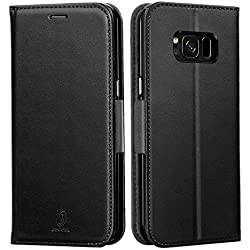 J Jecent Samsung Galaxy S7 Hülle Galaxy S7 Handyhülle PU Flip Leder Cover mit Cash Card Slots, Ständer Funktion und Magnetverschluss Wallet Case für Galaxy S7
