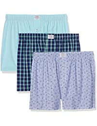 Springfield Pack 3 Pink Blue, Boxer Homme