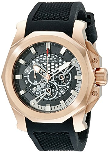 Orefici Unisex ORM2C4858 Analog Display Quartz Black Watch