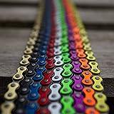 """KHE BMX Fixie Kette 1/2"""" x 1/8"""" 112 Glieder Links nur 385g mit Kettenschloss I4 - viele Farben"""