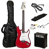 Dimensioni RockJam completa chitarra elettrica Superkit con amplificatore per chitarra, corde della chitarra, Guitar Strap, Borsa Chitarra e via cavo chitarra - Red