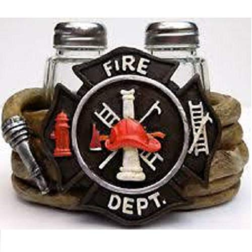 De Leon Collections Fire Department Salt and Pepper Shaker Set 4.75 x 3.25 x 3.25 Fire Salt Shaker