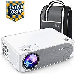 Vidéoprojecteur, Vankyo 6700 Lumens Rétroprojecteur Native 1920x1080P Full HD Correction Trapéze ±50° 4D Video Projecteur Portable Compatible HDMI VGA AV USB pour Présentation PPT Home Cinéma