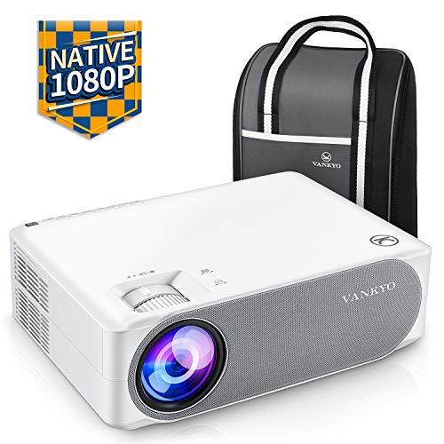 Beamer 6500 Lumen, Native 1080p Beamer Full HD, VANKYO Performance V630 Beamer Heimkino, mit ±50°Elektronische Korrektur, unterstützt HDMI USB TV Stick Xbox Laptop, iOS/Android Smartphone Projektor