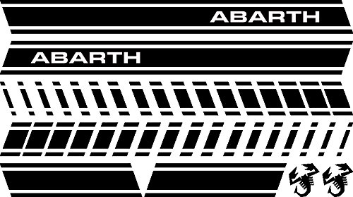 Adesiviautoemoto Abarth Aufkleber-Set Nero Lucido (Nero-aufkleber)