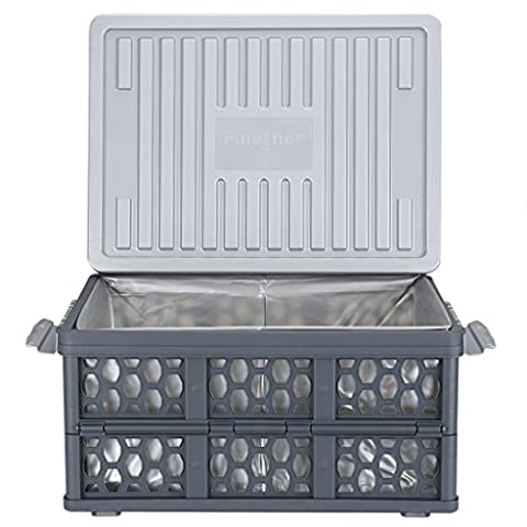 Finether Collapsible Storage Container Crate Box Basket with Detachable Waterproof