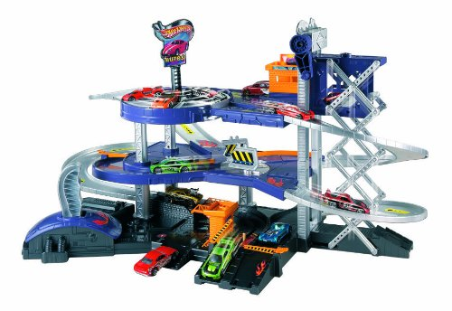 Mattel Hot Wheels - Parking con ascensor y dos catapultas V3260