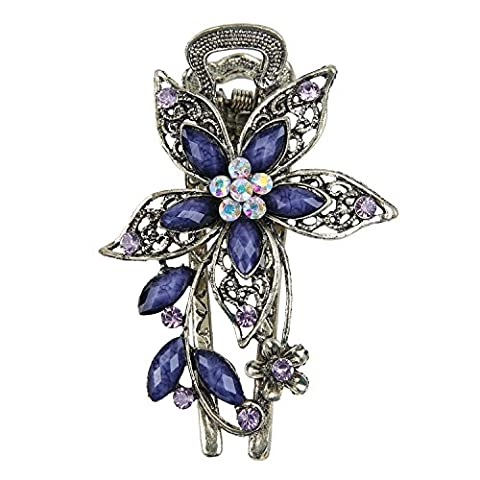 niceeshop(TM) Vintage Jewelry Beautiful Charm Flower Crystal Rhinestone Hair Clips