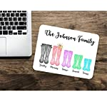 Family Wellington Boot Personalise Mouse mat Mouse pad Welly