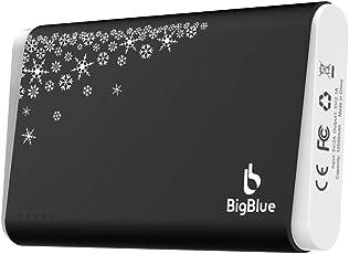 BigBlue 3 in 1 USB aufladbarer Handwärmer 10,000 mAh Powerbank mit LED Taschenlampe in schwarz