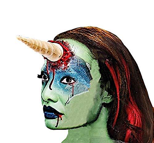 Einhorn Blutigen Kostüm - shoperama Applikation Blutiges Einhorn zum Ankleben und Kunstblut Halloween Horror Wunde Accessoire Kostüm-Zubehör
