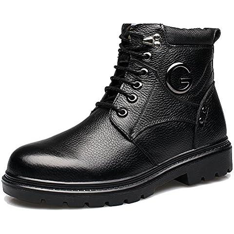 LYF KIU scarpe invernali da uomo/Scarpe/Uomini e velluto imbottito cotone di alta scarpe casual business/ padre scarpe