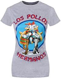Breaking Bad Los Pollos T-Shirt Gris Femme Sous Licence Officielle