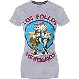 Breaking Bad Los Pollos T-Shirt Gris Femme Sous Licence Officielle
