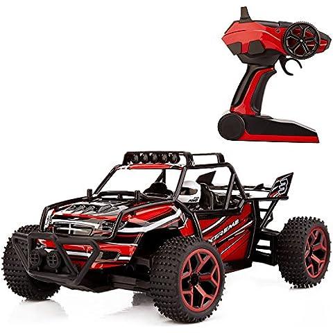 Metakoo RC Coche Electrico 4WD de Velocidad 20km/h Escala 1:18 Coche Juguete 50 Metros de Radiocontrol - Rojo