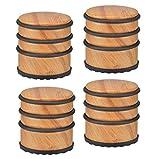 Türstopper im Bambus-Design - Schwere Türpuffer mit Gummiring zur Schonung Ihrer Türen (Bambus -...