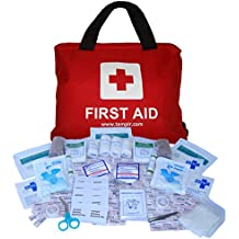 Premium First Aid Kit Bag 108 pieces with CPR Face Mask for Travel Car Home Camping Work Survival - by TempIR