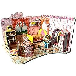 Blling-Jouet Fille,3D Puzzle Toy Early Learning Maison Chambre Cuisine Salle De Bain Assembler Jouets Enfants Jouet en Ligne Catalogue De Jouet Jouet pour Bébé Puzzle Difficile