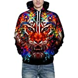 40%-60% Off!Men's Hooded Sweatershirt Autumn Winter 3D Print Long Sleeve Top Blouse - B07JGVTHPZ