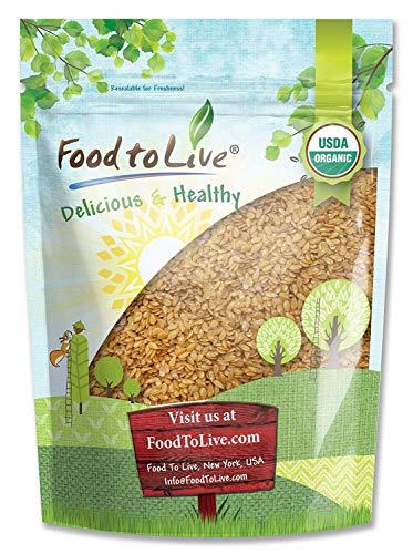 Bio Goldener Leinsamen, 1 Pfund - Ganze, GVO-Frei, Koscher, Roh, Vegan, Großteil