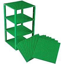 2 x LEGO® STEINE 2 x 16 NOPPEN PLATTE FLACH 4282 NEU HELLGRAU