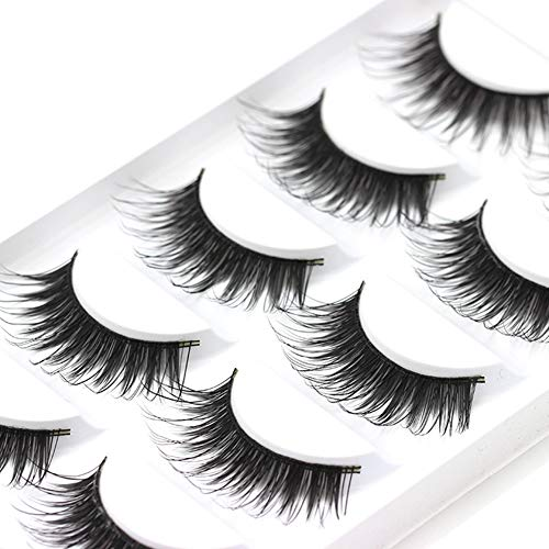 Oce180anylv vendita calda 5 coppia contraffatte ciglia nuda make up synthetic fibre natural thick false eyelashes hand made lashes makeup