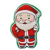 Weihnachts Deko,Wawer LED Musik Weihnachtsbaum Glühender Anhänger kleines Kissen Geschenk Schneemann Weihnachtsbaum Santa Ornament Home Party Decor (A)