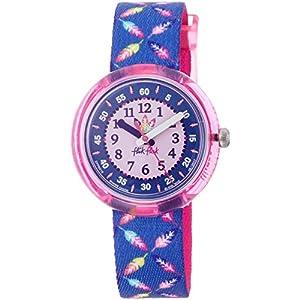 Flik Flak Mädchen Analog Quarz Uhr mit Stoff Armband FPNP016