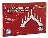 Idena Adventsbogen mit 7 LED Kerzenlichtern, ca. 30 x 40 cm, weiß, 31837