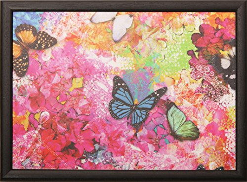 Andrew´s Knietablett Laptray mit Kissen Tablett für Laptop Butterfly pink Allover Schmetterling