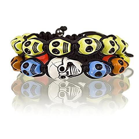 2 Piece Pair for Boys and Girls Shamballa Skulls &