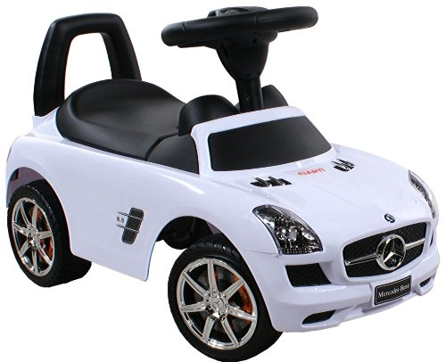 Jouets ? tirer Trotteur Porteur Baby Car ARTI Mercedes SLS AMG 332 White / Blanc Ride-On Activity...