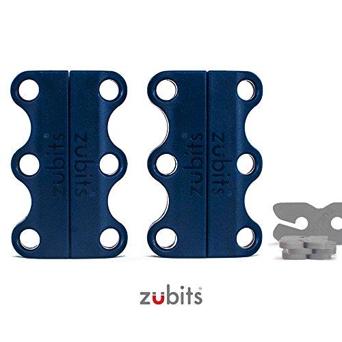 Preisvergleich Produktbild zubits® - Magnetische Schuhbinder / Magnetverschlüsse für Schuhe - Nie wieder Schuhe binden! Größe 1 Kinder und Senioren in dunkelblau